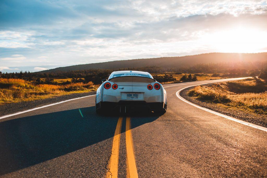Luxury car rental in Naples - Audi on road