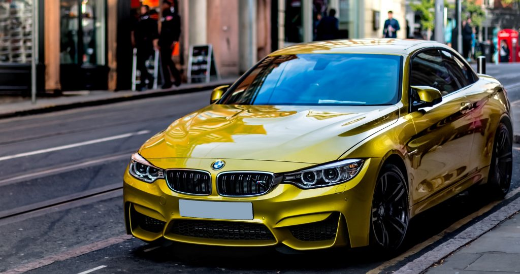 Luxury Car for hire on road - Munich, Germany