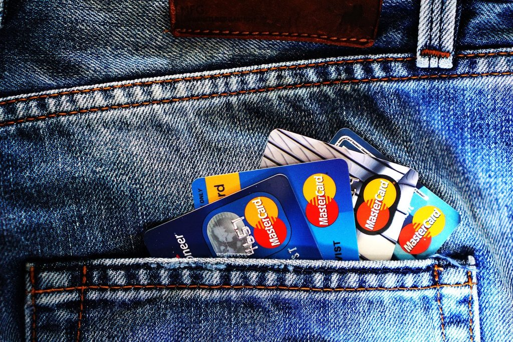 Renting a car with debit card - debit cards in pocket