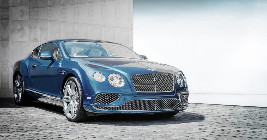 Luxury car for rent in parking